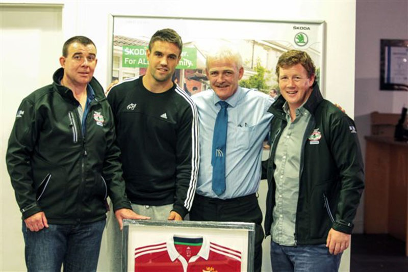Presentation of Lions Jersey to Fionnbar Walsh by Conor Murray