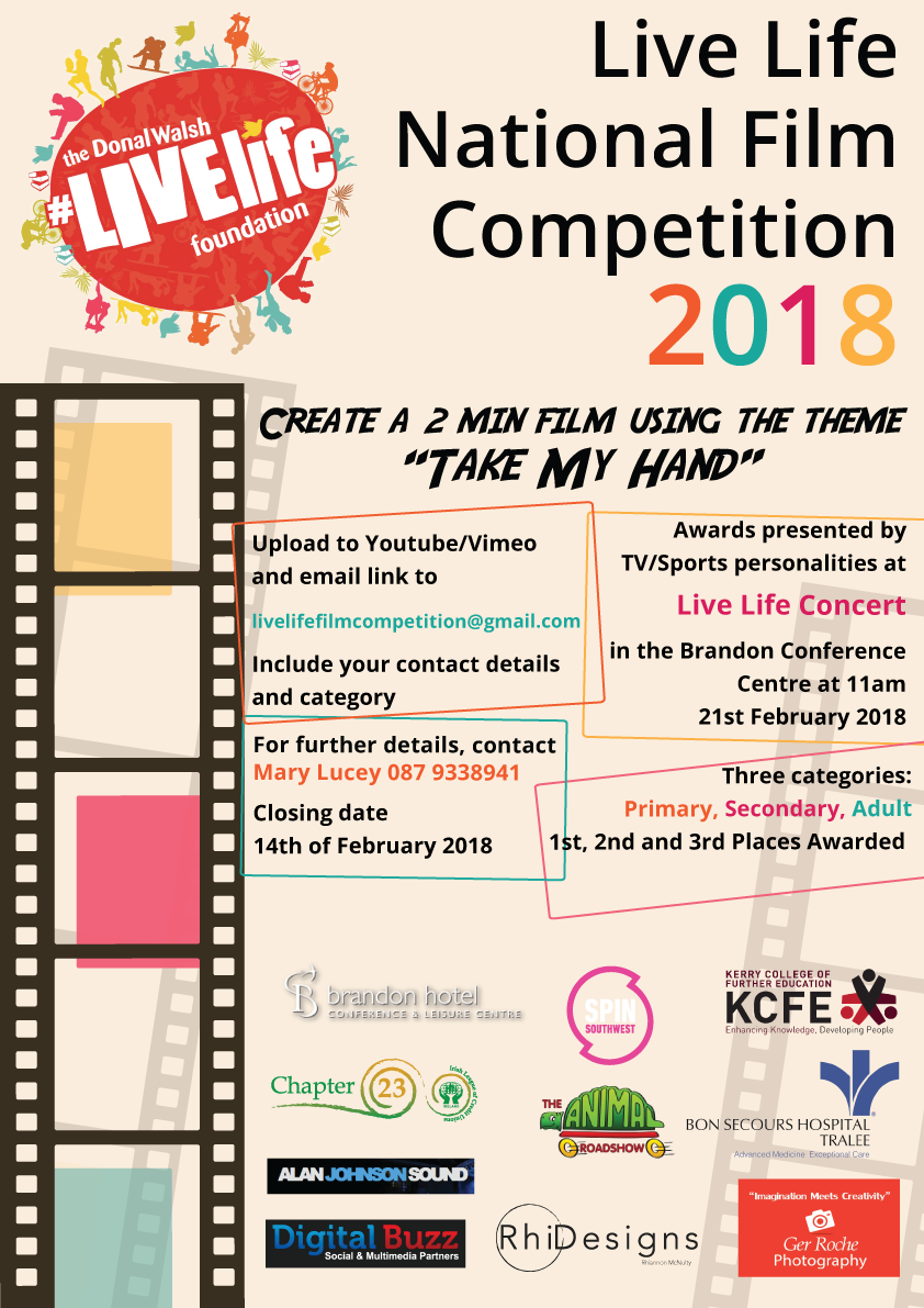 Take my Hand\' Livelife Film Competition - Donal Walsh #LiveLife